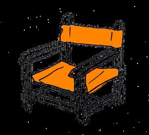 ロッキング無し子ども椅子