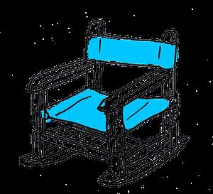 ロッキング有り子ども椅子